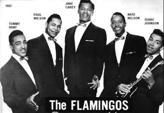 The Flamingos - The Flamingos 1957: L-R: Tommy Hunt, Paul Wilson, Jake Carey, Nate Nelson, Terry Johnson