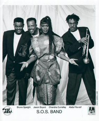 The S.O.S. Band - The SOS Band, 1991.  L-R: Bruno Speight, Jason Bryant, Chandra Currelley and Abdul Ra-oof.