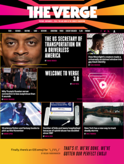 <i>The Verge</i> American technology news and media website operated by Vox Media
