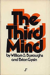 <i>The Third Mind</i> book by William S. Burroughs II