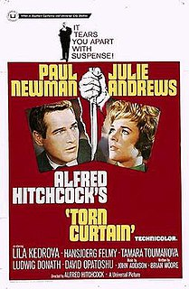 <i>Torn Curtain</i> 1966 espionage thriller movie directed by Alfred Hitchcock
