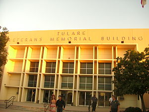 Tulare, California - Image: Veterans Memorial Building Tulare, CA