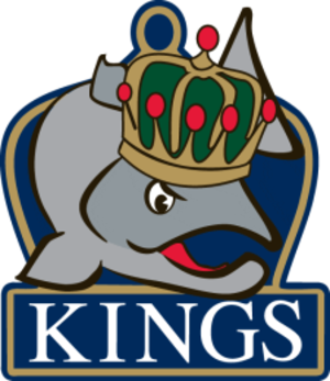 Victoria Salmon Kings - The original logo of the Victoria Salmon Kings lasted for one season.  It is rumoured that the logo needed to be changed as the Los Angeles Kings had objected to it.