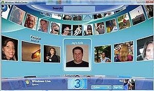 Windows Live TV - A screenshot of Windows Live for TV