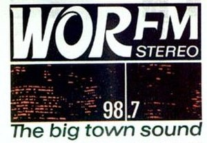 WEPN-FM - The WOR-FM logo from the late 1960s.