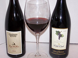 Rhone Rangers - Two Washington State Rhône Rangers and a glass of Chateau Ste. Michelle Columbia Valley Syrah