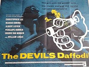 The Devil's Daffodil - British quad poster
