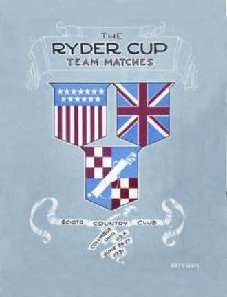 1931 Ryder Cup - Image: 1931Ryder Cup Cover