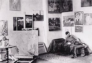Albert Bloch - Albert Bloch in his studio, Munich