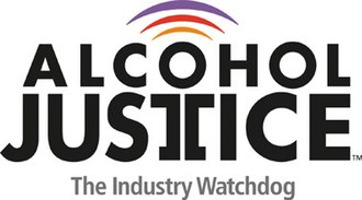 Alcohol Justice - Image: Alcohol Justice Logo trademarked with tag line