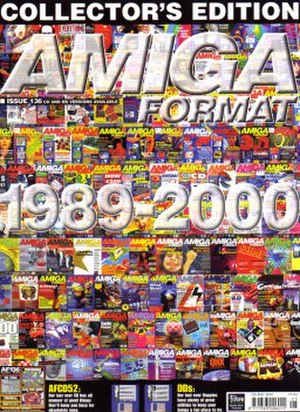 Amiga Format - The cover of the final issue of Amiga Format  (May 2000)