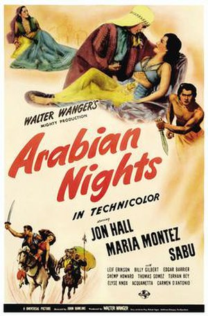 Arabian Nights (1942 film) - Original film poster