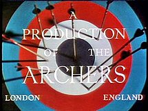 """The Archers"" logo from A Matter of Life and Death"