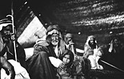 A Bedouin family in their tent photographed by Gertrude Bellin Ha'il