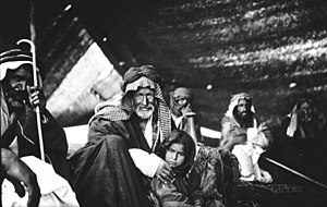 a Bedouin family in there tent