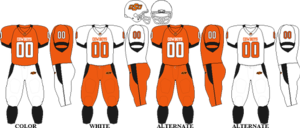 2008 Oklahoma State Cowboys football team - Image: Big 12 Uniform OSU 2007 2008