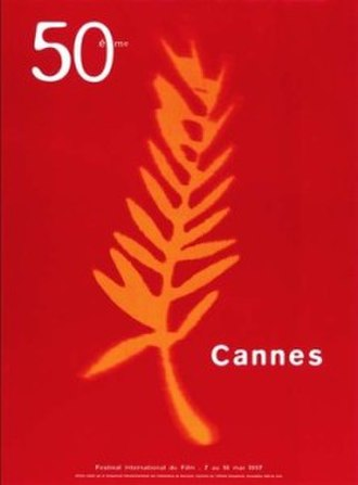 1997 Cannes Film Festival - Official poster of the 50th Cannes Film Festival