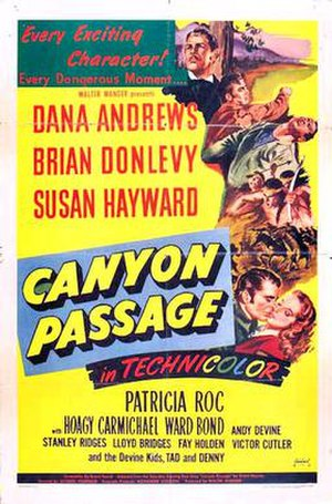 Canyon Passage - US Theatrical Poster