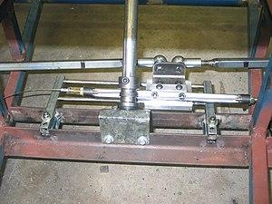 Capstan and Bowstring - Capstan and Bowstring device used in the steering mechanism of a go-kart.