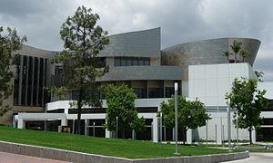 Cerritos Millennium Library as seen when looki...