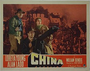 China (1943 film) - Lobby card