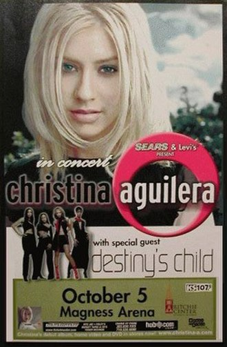 Christina Aguilera in Concert - Image: Christina A In Concert Tour Poster
