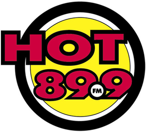 CIHT-FM - Hot 89.9 logo used since 2004.
