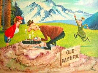 Clyde Lamb - Clyde Lamb's painting for a calendar