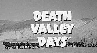 Death Valley Days - Early logo of Death Valley Days television program