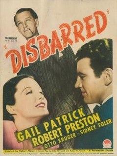 <i>Disbarred</i> (film) 1939 film by Robert Florey
