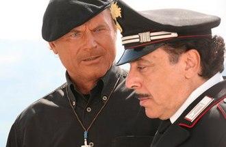 Don Matteo - From left, Don Matteo (Terence Hill) and Antonio Cecchini (Nino Frassica)