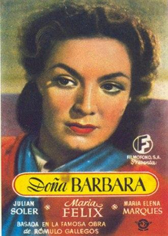 Doña Bárbara (1943 film) - Mexico theatrical release poster