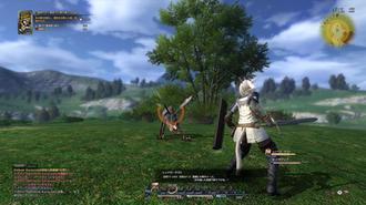 Final Fantasy XIV - Image: FFXIV battle interface