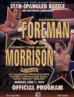 George Foreman vs. Tommy Morrison Boxing competition