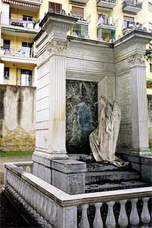 English Cemetery, Naples - The Freitag burial plot - the grave has been vandalized since this photo was taken.