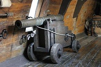 Falconet (cannon) - Replica falconet aboard the replica tall ship Half Moon