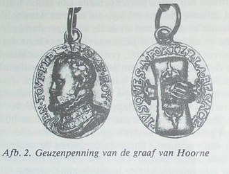 "Geuzen medals - Hoorne's gold medal, illustration in the contribution in ""de beeldenaar"" of May/June 1980, page 92, by G. van der Meer"