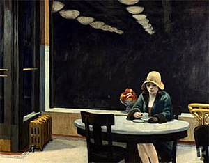 Automat painting by Edward hopper