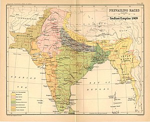 Herbert Hope Risley - Image: India 1909Prevailing Races