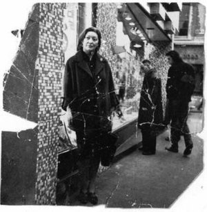 Portrait of Isabel Rawsthorne Standing in a Street in Soho - Portrait of Isabel Rawsthorne, Photograph commissioned by Bacon. John Deakin, c.1966–67