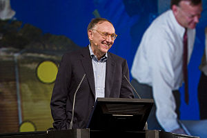 Jack Dangermond at the Esri UC Plenary Session.