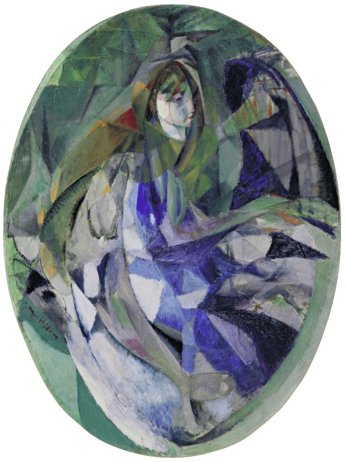 Jacques Villon, 1912, Girl at the Piano, oil on canvas, 129.2 x 96.4 cm, Museum of Modern Art, New York..