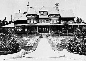 John P. Jones - Miramar, Jones' famous Santa Monica home, in 1890