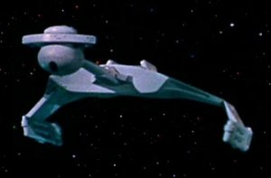 Klingon starships - The D7-class battlecruiser was designed by Matt Jefferies to mimic the appearance of a manta ray. The vessel's basic configuration was used for all subsequent Klingon ships.