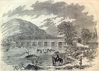 Loudoun County in the American Civil War - Confederate seizure of the Point of Rocks Bridge