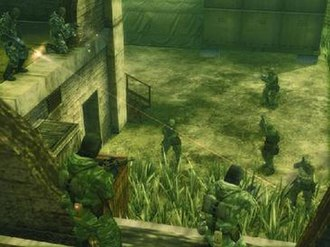 Metal Gear Solid 3: Snake Eater - The online mode in Subsistence. Here, the GRU team faces off against the KGB team