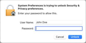 Comparison of privilege authorization features - Authenticate