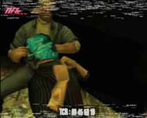 Manhunt (video game) - An execution in Manhunt, in which James Earl Cash suffocates a hunter with a plastic bag.