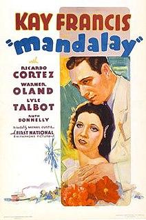 <i>Mandalay</i> (film) 1934 film by Michael Curtiz