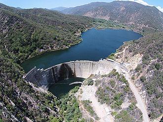Matilija Dam - View of Matilija Dam from the air